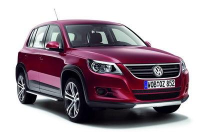 Présentation du SUV compact VW Tiguan de production (2008).