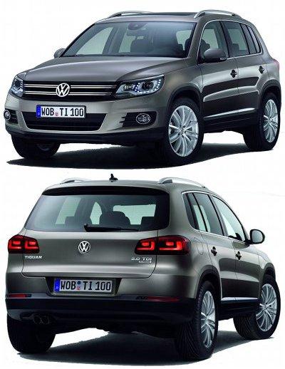 Présentation de la version restylée du SUV compact VW Tiguan en 2012.