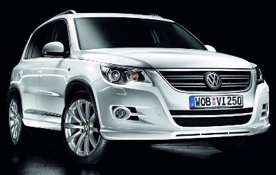 Présentation du SUV Volkswagen Tiguan R-Line de 2009.
